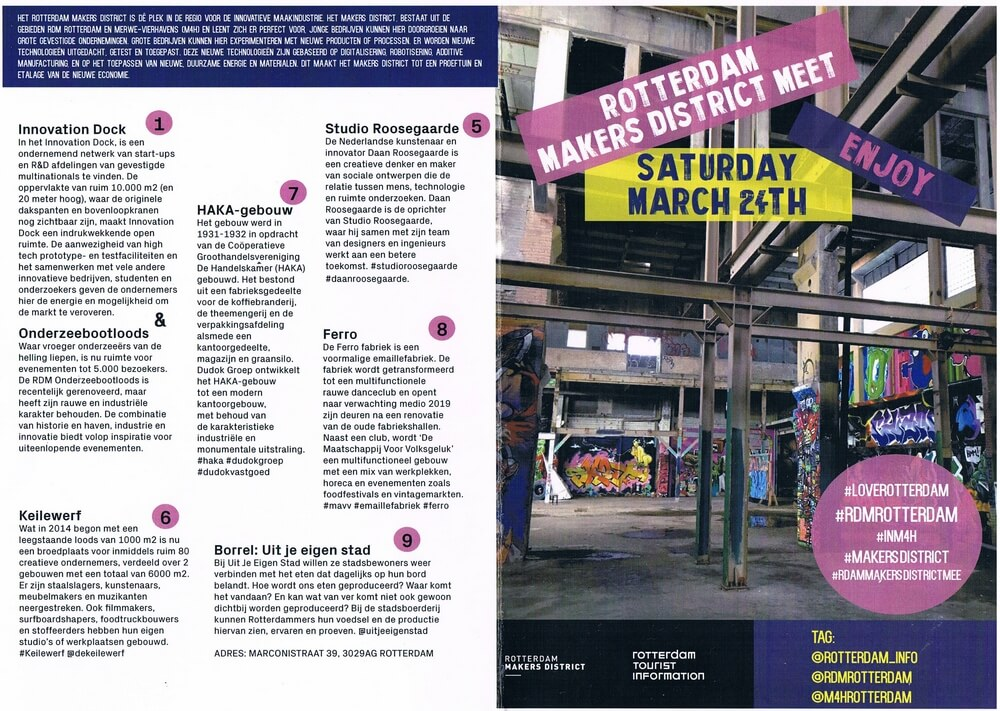 Programma van de Rotterdam Makers District Instameet
