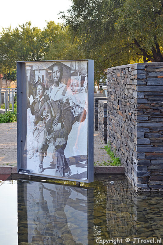 Hector Pieterson-memorial in de township Soweto